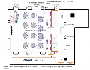 Sponsors and exhibition layout